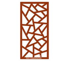 Cortenstaal Schutting Abstract Design