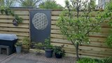 Cortenstaal Schutting Flower of Life_