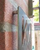Naambord voordeur cortenstaal 30x30cm_