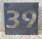 Naambordje voordeur cortenstaal 20x20cm_