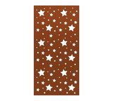 Cortenstaal schutting sterren