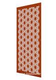 cortenstaal paneel symmetric flowers