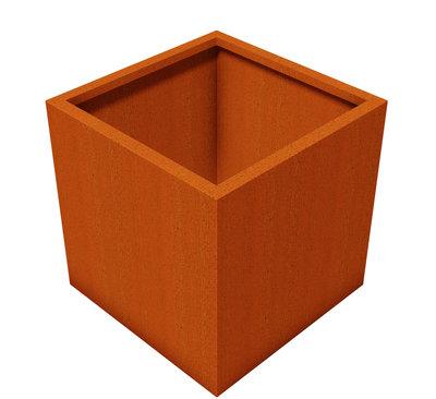 Cortenstaal bloembak 50x50x50cm