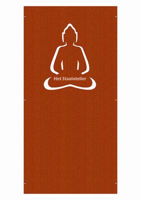 Cortenstaal Schutting Boeddha