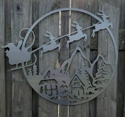 Cortenstaal wanddecoratie Kerstmis
