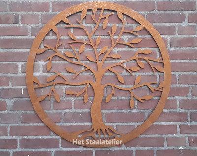 Cortenstaal wanddecoratie Tree of Life 50cm