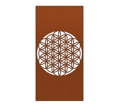 Cortenstaal Schutting Flower of Life