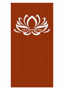 Cortenstaal Schutting Lotus