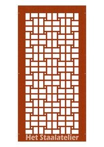 cortenstaal paneel rectangle
